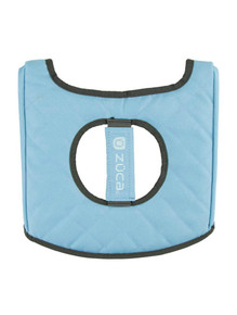 SEAT CUSHION, GRAY/GLOSS BLUE