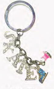 Crystal Skate Key Chain