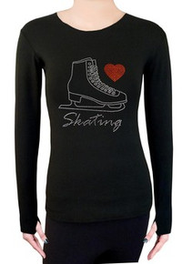 Long Sleeve Shirt with Rhinestones R221