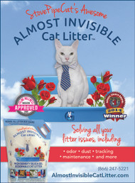 StovePipeCat's Awesome Almost Invisible Cat Litter - 45 Pounds