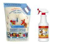 $12 Anti-Icky-Poo Quart bundled with 9 lbs. of Almost Invisible Cat Litter