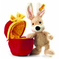EAN 080227 Steiff plush Mr Cupcake rabbit in plush egg, beige