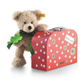EAN 114007 Steiff plush Fynn Teddy bear in suitcase, beige