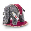 EAN 006586 Steiff non-woven fabric Uli little elephant designer's choice, gray/multicolored