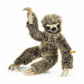 EAN 056284 Steiff woven fur Eric sloth dangling, brown tipped