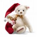 EAN 006562 Steiff mohair sweet Santa Teddy bear with music box, white