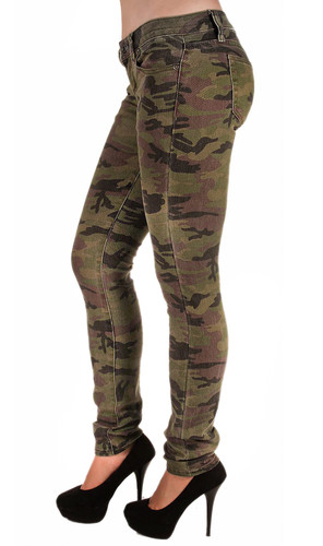 5027 – Classic 5 Pockets Camouflage Premium Skinny Jeans