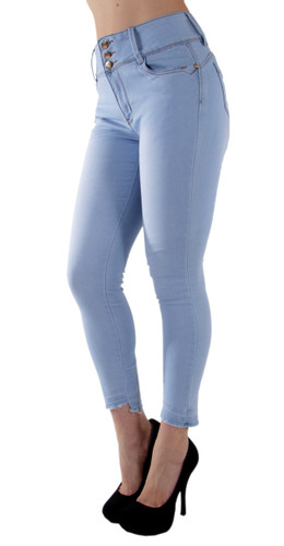 9T514(S) - Butt Lift, Levanta Cola, Mid Rise, Ankle Skinny Jeans