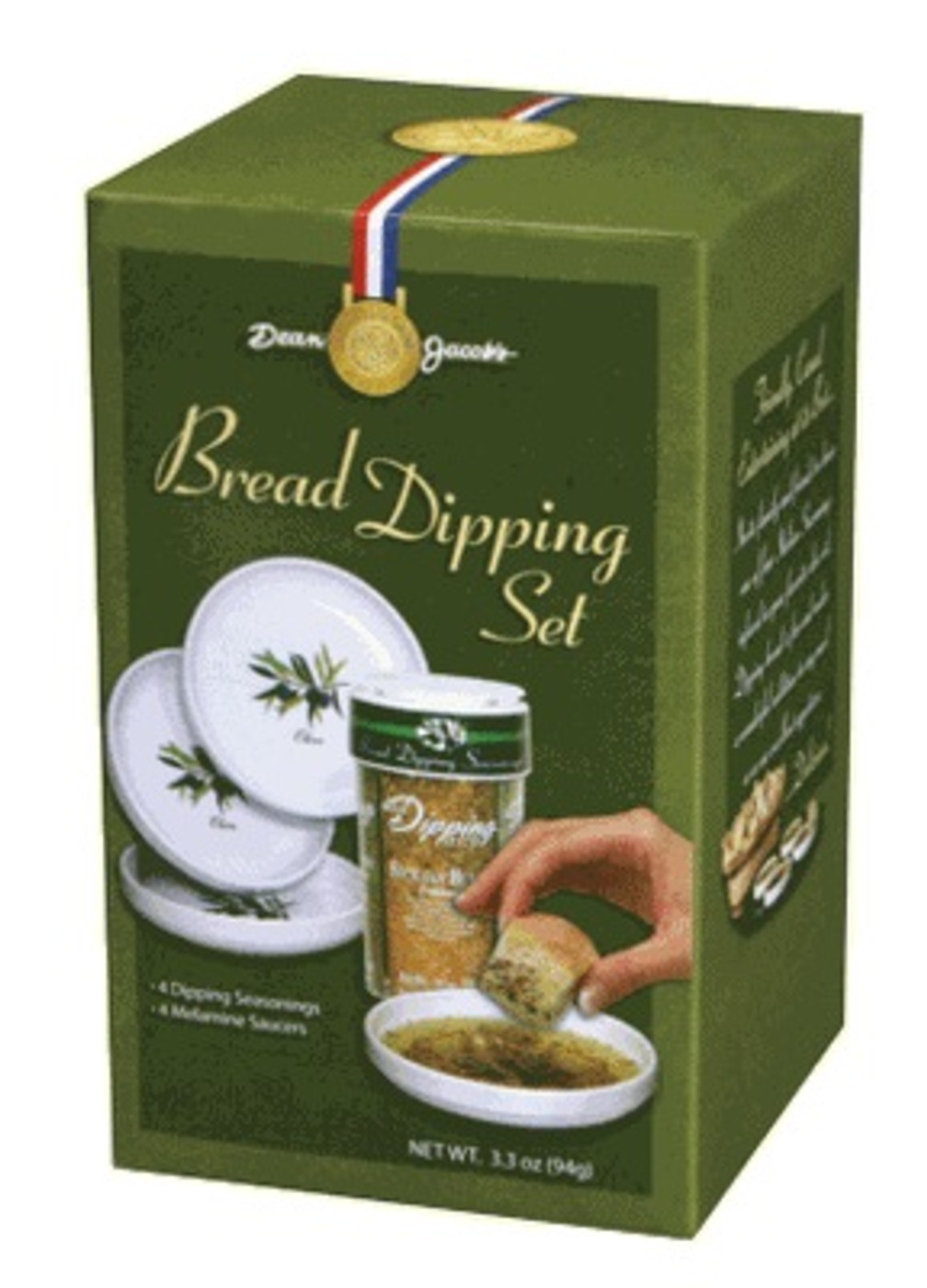 "5 piece Melamine Bread Dipping Set .40 Oz ""Large"""