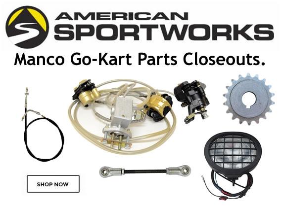 manco go kart parts closeouts