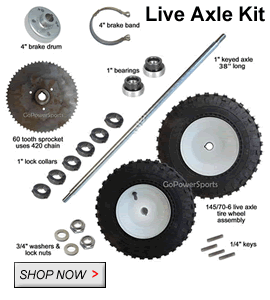 off road and racing go kart parts go kart kits go kart plans weld on frame parts