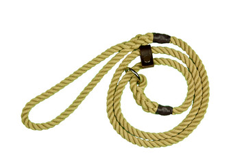 8mm Nylon Slip Lead with Leather stop