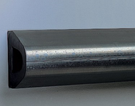 """""""D'' Shape Extruded Rubber Bumper, Undrilled, 10' length x 4-1/4'' height x 4'' depth"""
