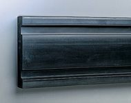 """""""D'' Shape Extruded Rubber Bumper, Undrilled, 10' length x 8"""" height x 1-1/2"""" thick"""