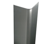 "72"" x 1.5"" x 1.5"" - 90 Deg Bullnose, 14ga, Type 304, Satin #4 (Brushed) Finish, Stainless Steel Corner Guard"