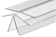 48'' x 1'' x 1'', .042'' Thick, Clear, Durable, Plastic Corner Guard w/Self-Stick Tape & ADJUSTABLE HINGE, FITS ANY ANGLE!