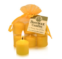 Votive- Small Beeswax Candle (Single or 6)