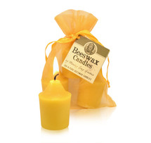 Votive- Colonial Beeswax Candle (Single or 3)