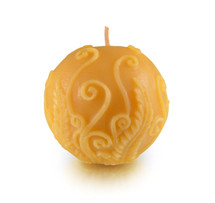 Ball, Fern Beeswax Candle
