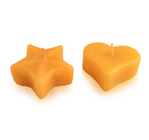Heart or Star Floating Beeswax Candle