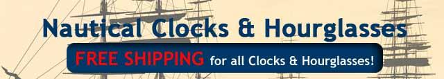 Nautical Clocks & Hourglasses
