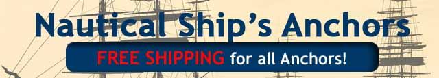 Nautical Ships Anchors Free Shipping