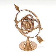 Brass Armillary Dial Sphere World Globe Desk Top
