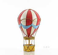 Red Hot Air Balloon 3d Toy Metal Model