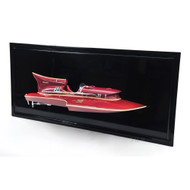 Arno Ferrari Hydroplane Half Hull Model Speed Boat