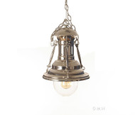 Nautical Chrome Metal Pendant Hanging Lamp Turnbuckle Light