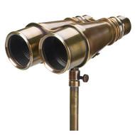 Solid Brass Victorian Binoculars Tripod Antiqued Bronze