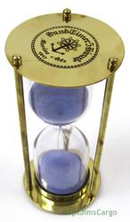 Marine Arts Brass Marine Sandglass Hourglass 5 Minute