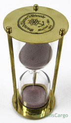 Nautical Brass Marine Sandglass Hourglass 5 Minute