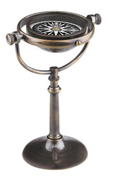 Nautical Collector's Compass Brass Antiqued Bronze Finish
