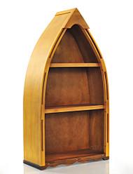 Row Boat Canoe Bookcase Bookshelf Cedar Wood