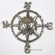 Aluminum Compass Rose Chrome Windrose Nautical Wall Decor