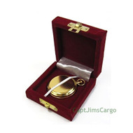 Brass Dalvey Style Compass Gold Plated Gift Case