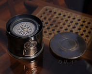Brass Gimbal Compass Drum Case Nautical Decor