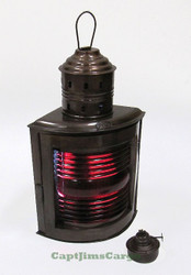 Ships Red Port Running Light Lantern Oil Lamp