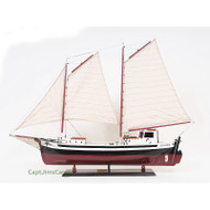 La Gaspesienne Fishing Boat Wooden Schooner Model Canadian
