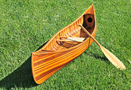 Display Cedar Strip Built Canoe Model Flat Matte
