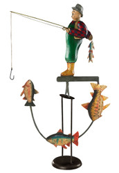 Fly Fisherman Sky Hook Tetter Totter Toy