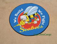 US Navy Seabees Logo Seal Round Rug Mat