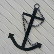 Black Navy Ships Metal Anchor Nautical Decor USA