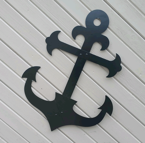Black Fancy Ship 39 S Metal Anchor 36 Outdoor Wall Hanging