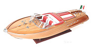 Large Riva Aquarama Speed Boat Wooden Scale Model