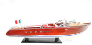 RC Ready Riva Aquarama Speed Boat Wooden Model