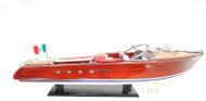 RC Ready Riva Aquarama Speed Boat Wooden Model