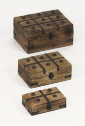 Pirate Treasure Chest Nested Wood Trinket Boxes Nautical