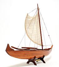 Hawaiian Outrigger Canoe Boat Model Traditional Sailing